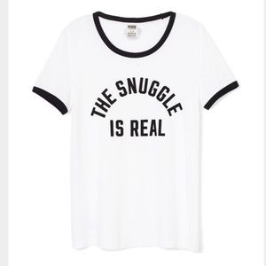 PINK Victoria's Secret 'The Snuggle Is Real' Tee